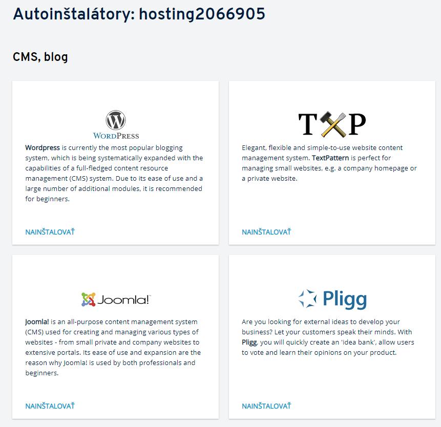 Autoinštalátor na hostingu – ako ho používať?