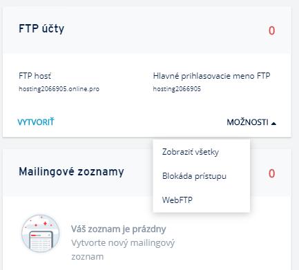 Ako sa cez FTP spojiť so serverom IONOS?
