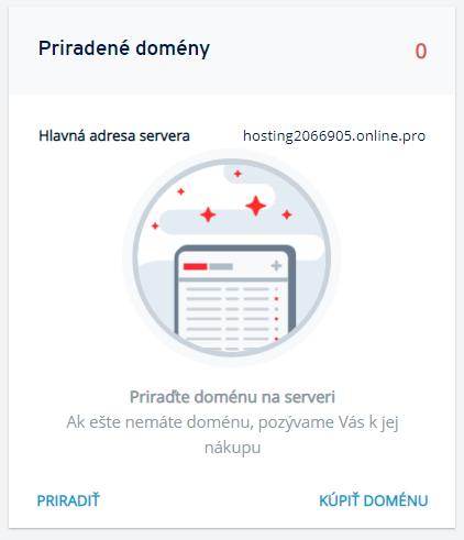 Ako priradiť doménu k serveru v Klientskom paneli?